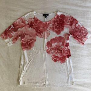 J.Crew Flower Motif T-Shirt (XXS)